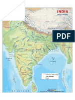 Indian Rivers System with Dams