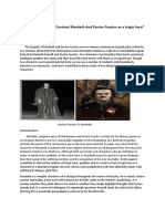 Compare and Contrast between Macbeth And Dr. Faustus