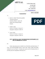 Legal Notice- Rackly Craft Pvt.Ltd