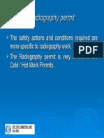 Radiography permit
