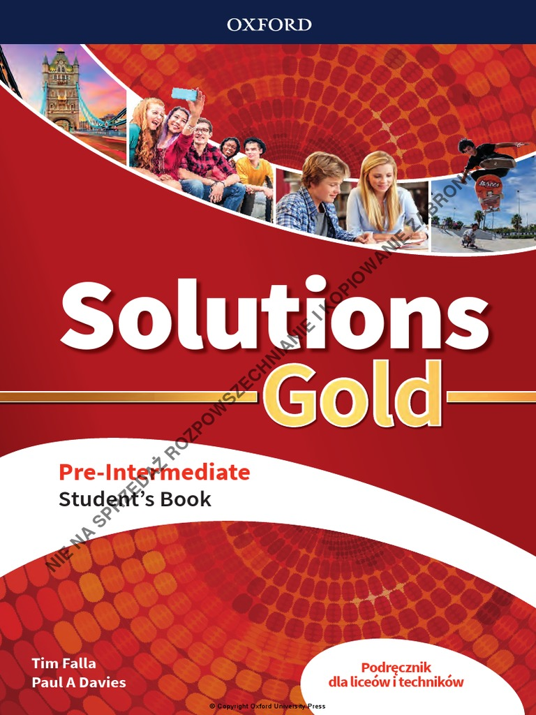 Solutions Gold Pre Int Students Book Units 25 25