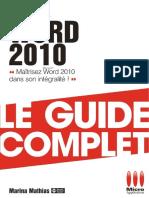 Livre Microapplication Word 2010 Fr