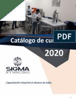 Catalogo de Cursos Sigma Imecsa 2020