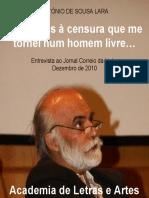 Professor Sousa Lara - Entrevista ao Jornal Correio da Linha