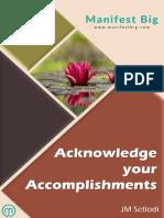 Acknowledge Your Accomplishments - eBook