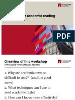 Strategies for Teaching academic reading pdf