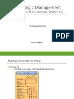 Strategic Management Session XV
