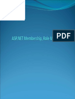 ASP.NET Membership and Roles Management