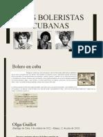 TRES BOLERISTAS CUBANAS