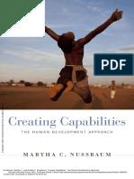 Creating Capabilities The Human Development Approach - Nussbaum