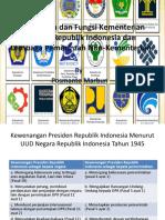 Pertemuan Kedua Bab 1 Kedudukan dan Fungsi Kementerian Negara Republik Indonesia dan Lembaga Pemerintah Non-Kementerian.pptx