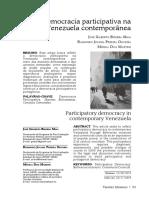 Maia, Oliveira, Martins - 2020 - Democracia participativa na Venezuela contemporânea