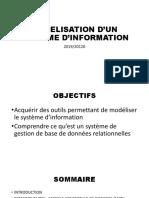 MODELISATION D'UN SYSTÈME D'INFORMATION FICHIER N°1