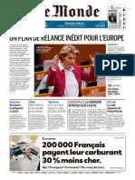 Journal LE MONDE du Vendredi 29 Mai 2020