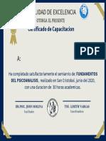 Dark Blue and Gold Lace Border Elegant Workshop Certificate (1)