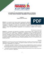 LEY DE PREVENCION DE LA TORTURA EN VENEZUELA