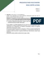 Preguntas y Respuestas Unidad 2 - Módulo 2