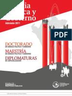 Admisión 2011 - Escuela de Gobierno y Políticas Públicas