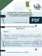 Estrategia continuidad educativa UNAN-Managua  para plan 2013 10-07-2020