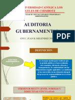 AUDITORIA GUBERNAMENTAL PPT  Mgtr.CPCC. JUAN MELÉNDEZ TORRES