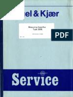 Bruel-kjaer 2606 2607 2608 Service Manual