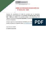 COMUNICADO_SUSPENSIÓN DE PROCESOS CAS
