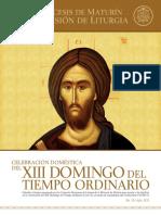 Subsidio - XIII Domingo del Tiempo Ordinario - Ciclo A