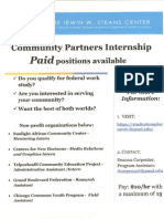Community Partners Internship - Flyer - PDF