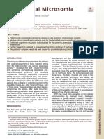 Craniofacial Microsomia 2019