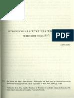2 Introducción a la critica de la filosofía del derecho de Hegel