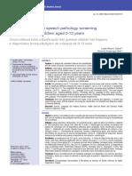 Correlation between speech pathology