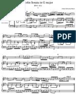 Violin Sonata in G major I