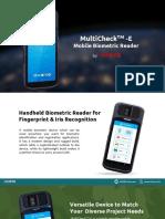 MultiCheckTM-E-Mobile-Biometric-Reader