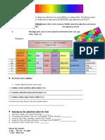 Worksheet Adjective Order