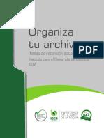 Organiza tu archivo. Tablas de retención documental del Instituto para el Desarrollo de Antioquia IDEA - copia.pdf