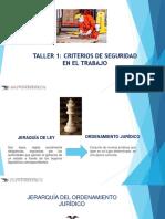 TALLER 1-CRITERIOS DE SEGURIDAD EN EL TRABAJO