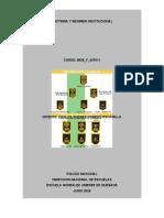 ESQUEMA DOCTRINA Y REGIMEN INSTITUCIONAL