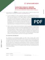 FORMATO DAVIVIENDA AUTORIZACIÓN PARA CONSULTA Y REPORTE A CENTRALES Y/U OPERADORES DE INFORMACIÓN