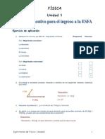 FÍSICA UNIDAD 01 EJERCICIOS