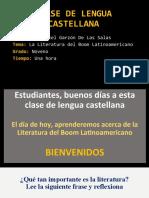 CLASE LITERATURA DEL BOOM LATINOAMERICANO OK
