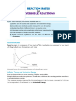 4.3 Reaction Rates and Reversible Reactions