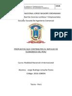 PROPUESTAS QUE CONTRIBUYEN AL IMPULSO DE ECONOMICO DEL PERU - copia