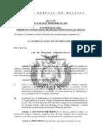 Ley 073 de Deslinde Jurisdiccional