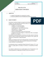 PRACTICA N 5  BCI 2020 Aminoácidos y proteínas
