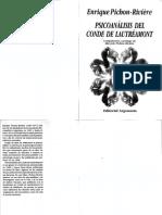 Enrique Pichon Riviere Psicoanalisis Del Conde de Lautreamont