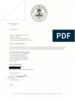 Governor's School for Science and Mathematics Board Appointment Letters
