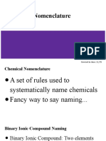 chemical nomenclature notes