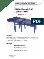 MEMORIA DE ESTRUCTURA-MODULO BB