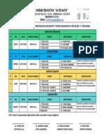 Cronograma de Recepción de Portafolio 2020.
