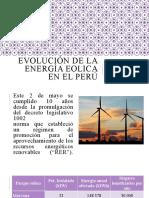 EVOLUCIÓN DE LA ENERGÍA EOLICA EN EL PERÚ